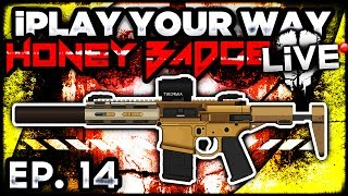 call of duty ghosts honey badger w semi auto iplay your way ep 14 cod ghost multiplayer