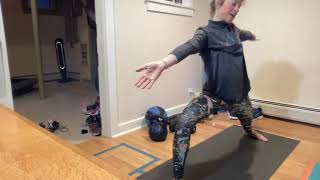Quick morning flow and deep stretch.  Will get you warm and ready for the day. Playlist - girl power