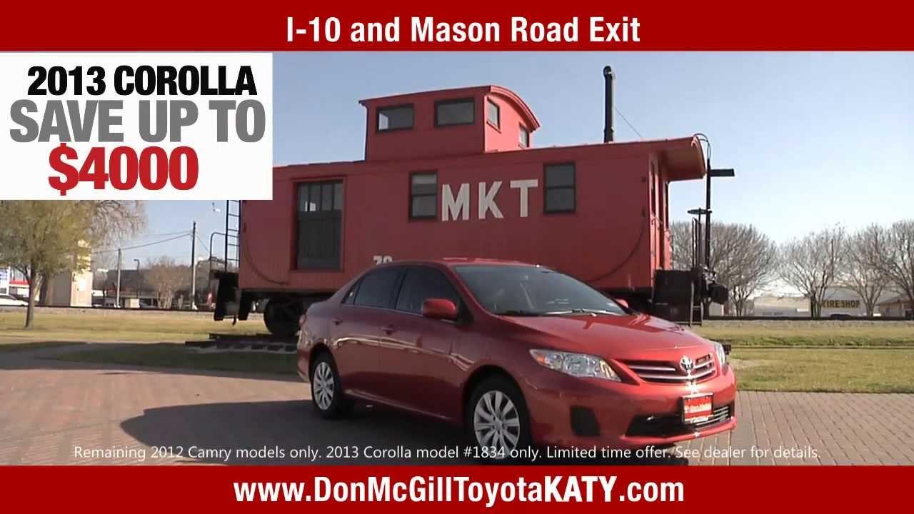 Don Mcgill Toyota Of Katy >> Toyota of Katy - New Camry and Corolla SPECIALS - YouTube