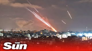 Hamas launch bomb-laden SUICIDE DRONES into Israel as fighter jets filmed blasting them out the sky