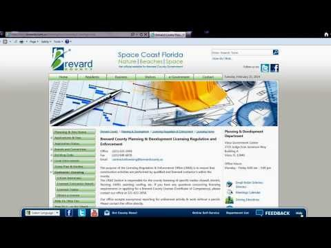 Brevard County Florida Contractor License Search