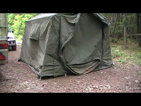 9x9 british army command tent solo set up 8mins