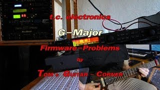 Fixed: TC Electronics G-Major Firmware failure (by TOM