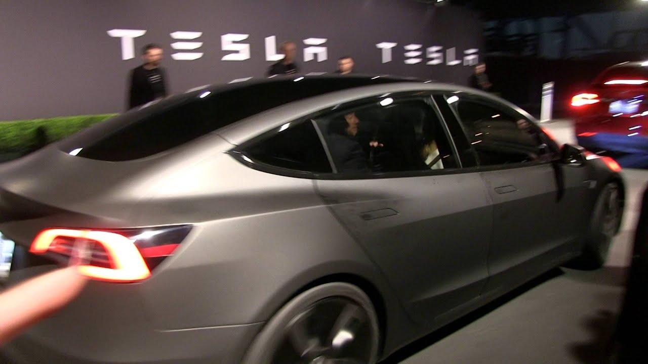 Tesla Model 3 Matte Grey With Model S Door Handles Youtube