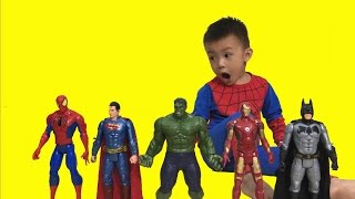 Toys for Kids Spiderman Hulk Superheroes | The Surprise For Kids