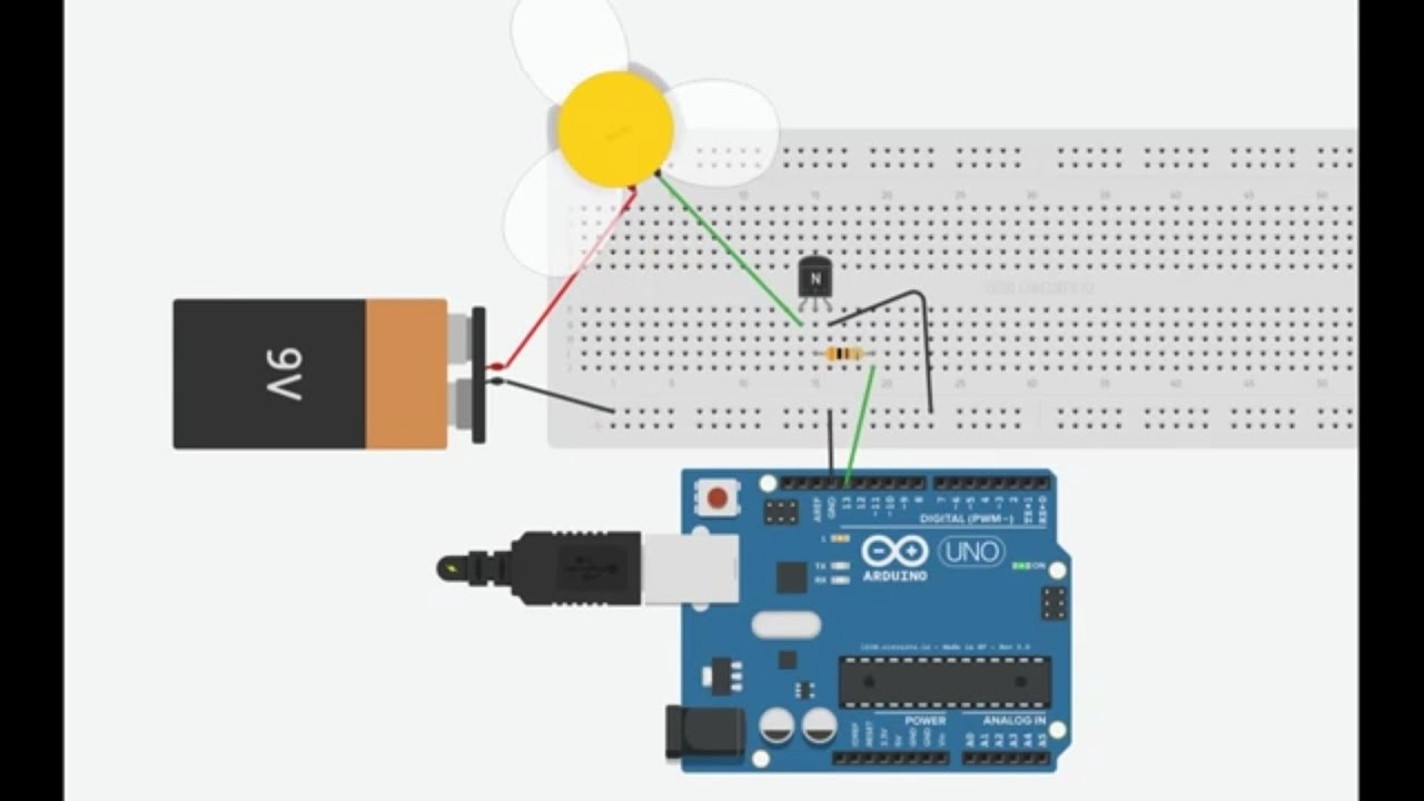 Practical Transistor Tutorial W Arduino Driving A Motor Youtube Falstadcom Has Great Online Circuit Simulator It Runs In Java But