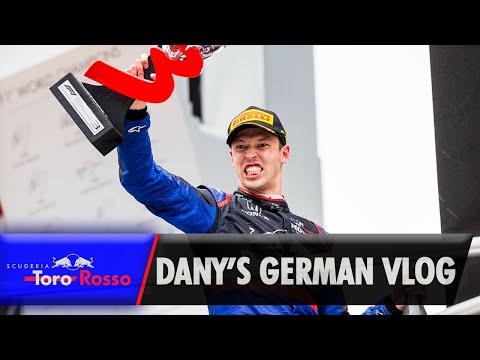 Daniil Kvyat's German GP Vlog   Podium Special!