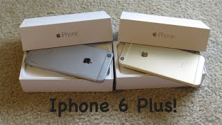 Iphone 6 Plus Unboxing! Gold and Space Gray!