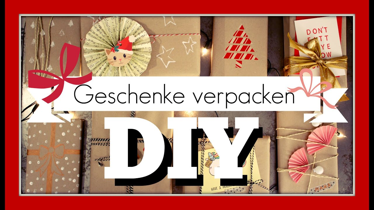 s e und einfache ideen geschenke verpacken diy funnypilgrim youtube. Black Bedroom Furniture Sets. Home Design Ideas