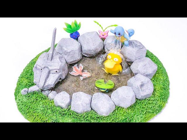 【粘土】イワーク池 作ってみた 【ポケモン】Pokemon Onix Pond - Polymer Clay