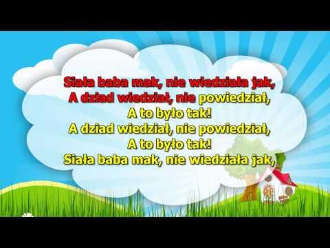 Karaoke dla dzieci - Siała baba mak - z wokalem
