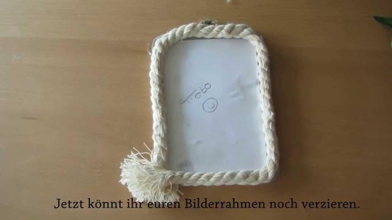 DIY do it yourselfe | Bilderrahmen/ picture frame | Tutorial - YouTube