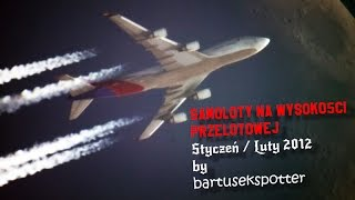 Samoloty na Wysokości Przelotowej nad Polską [HD] / Contrails Over Poland #1 Styczeń/Luty
