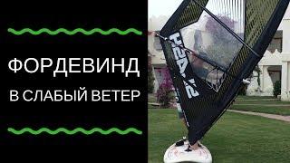 Фордевинд в слабый ветер (Non planing jibe). Виндсерфинг на диване с Николаем Жаворонковым