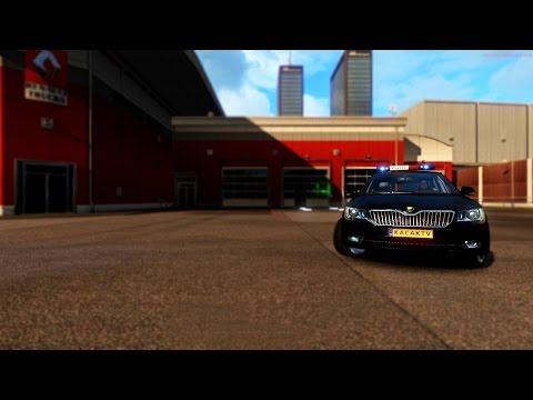 Euro Truck Simulator 2 Multiplayer | Police Car Mod | Test Drive |  ets2mp.com |