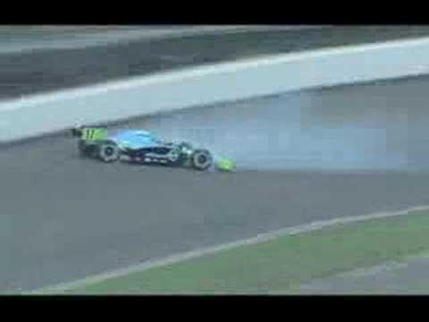 Ryan Hunter-Reay crashes during pole day - Indy 500 2008