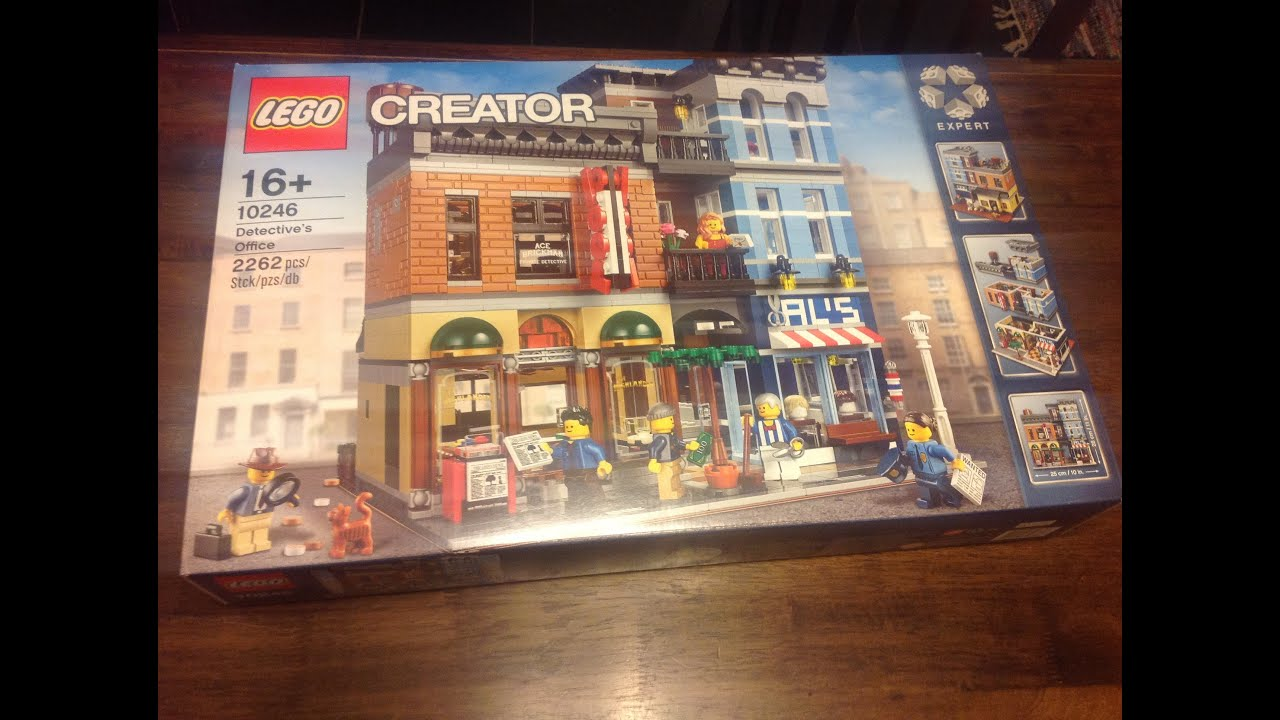 lego creator expert 10246 detectives office time lapse build video build office video