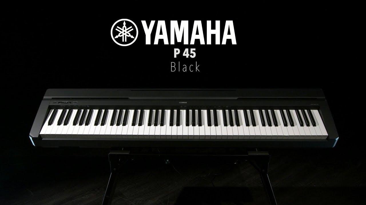 Yamaha P 45 - обзор на цифровое пианино - YouTube