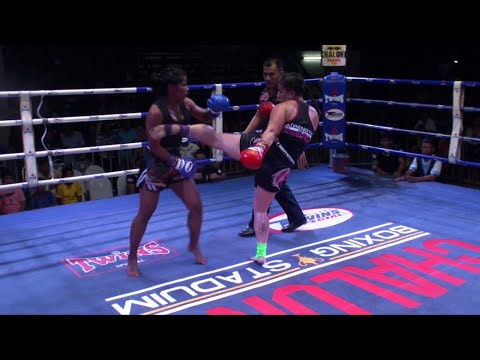 Mónica Brenes (Tiger Muay Thai) vs Nungning (Dragon Muay Thai) @ Chalong Boxing Stadium 3/11/2015