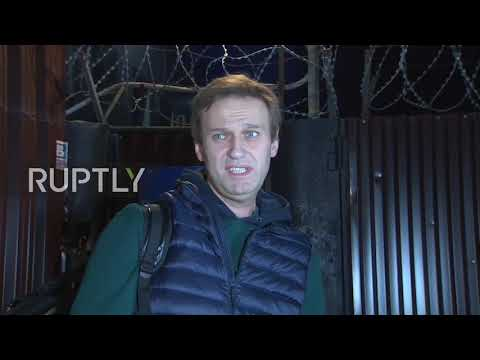 Russia: Opposition activist Alexei Navalny released from prison