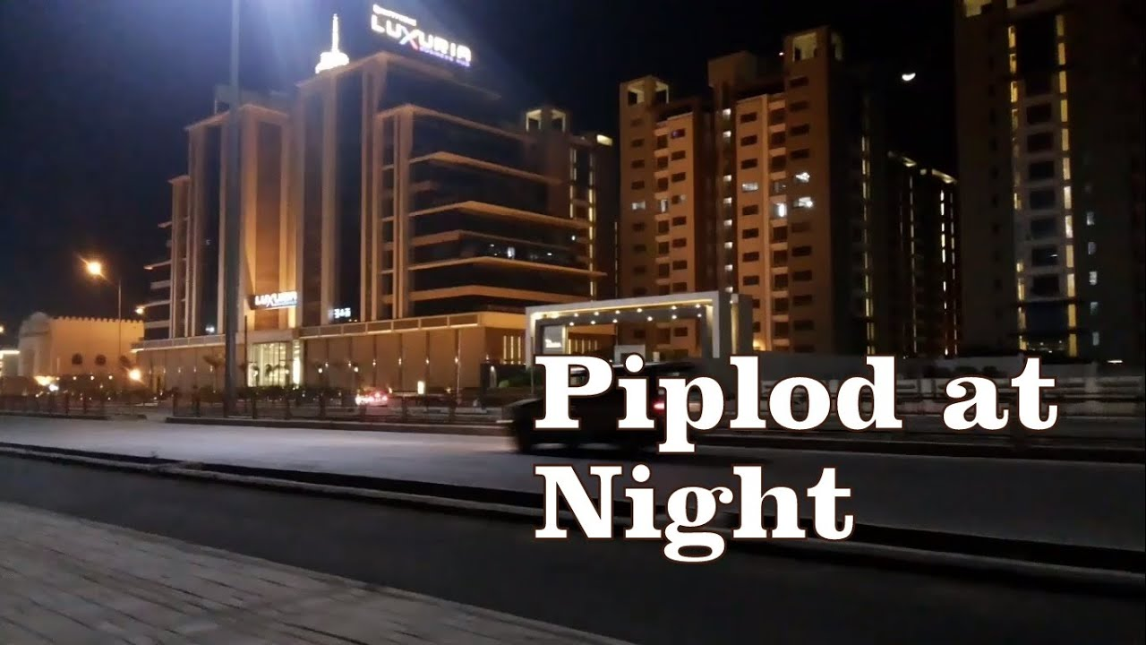 Surat At Night Piplod Vesu Youtube