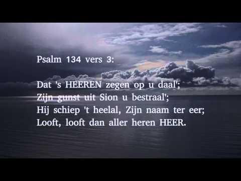 Psalm 134 vers 1, 2 en 3 - Looft, looft nu aller heren HEER