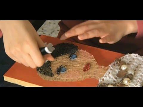 فنانة فلسطينية تنسج الأفكار مع خشب وخيوط لتبدع لوحات فريدة  - 09:23-2018 / 2 / 23