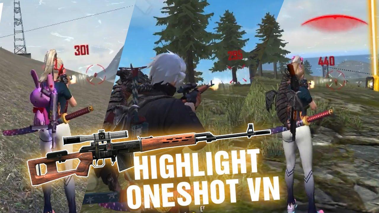 Highlight Free Fire OneShot Vn | SKS, SVD Is The Best  | Vô Lý Gaming