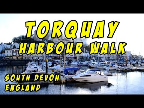 Torquay Harbour Walk, South Devon, England
