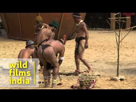 Hunting enactment by Phom tribe of Nagaland