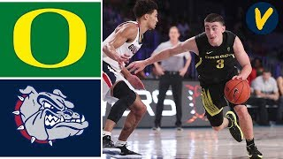 2019 College Basketball #11 Oregon vs #8 Gonzaga Highlights