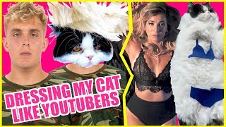 DRESSING MY CAT LIKE FAMOUS YOUTUBERS