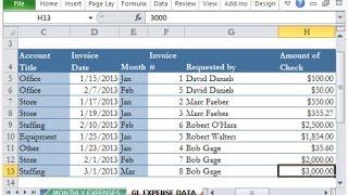Comment créer le grand Livre et la Balance avec Excel (UrduHindi)
