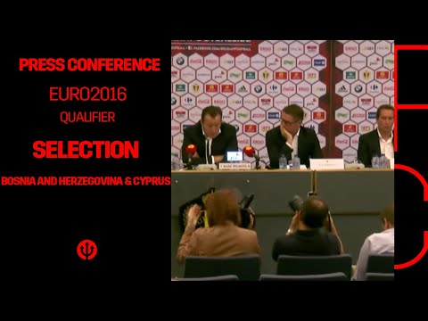 Press conference Marc Wilmots: selection Belgian Red Devils Bosnia and Herzegovina & Cyprus