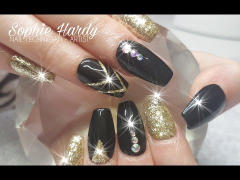 Acrylic Nails Gloss Black Nail Design