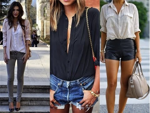 2018 Summer Button Down Shirts Street Style Trends