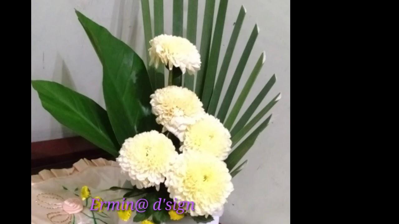 Kreasimerangkaibungasederhanauntukpemula Youtube Rangkaian bunga altar gereja