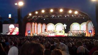 Prayer Vigil @ Hyde Park - Pope Benedict XVI addressing young people.MP4