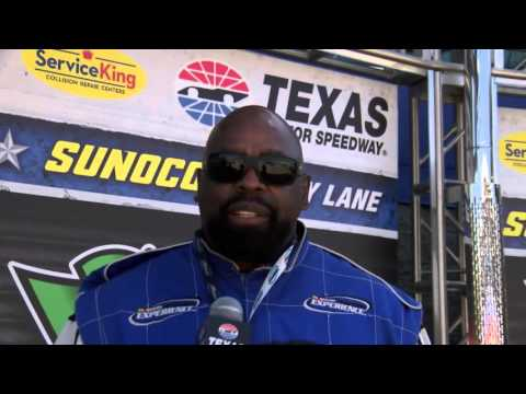 "Ed ""Too Tall"" Jones Drives A Stock Car at Texas Motor Speedway"