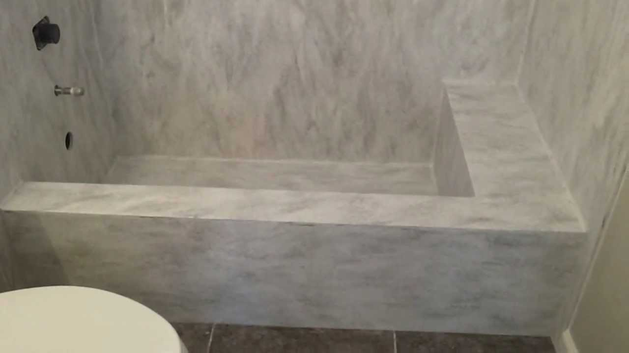 Custom Corian Arrowroot Tub and Vanity Sink  YouTube