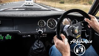POV Drive to the top of STELVIO PASS in the Alfaholics GTA-R290