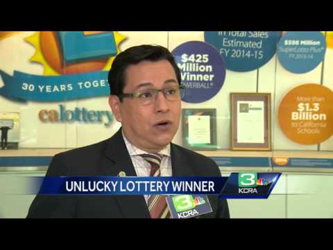 Man files suit against California Lottery after he couldn't claim $63M prize