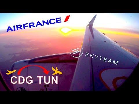 ✈︎ AIR FRANCE ✈︎ Wonderful Sunset Flight To TUNIS ✈︎ [*FULL*]