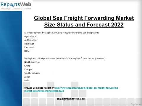 Sea Freight Forwarding Market 2017 New Research Study