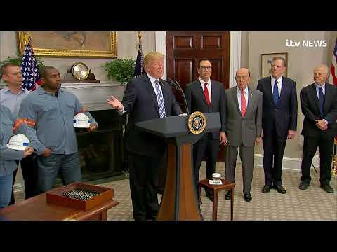 Donald Trump announces steep tariffs on steel and aluminium | ITV News