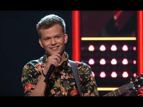 "The Voice USA 2018 - Britton Buchanan amazing ""Trouble"" - Adam Levine is BLOCKED by Blake!"
