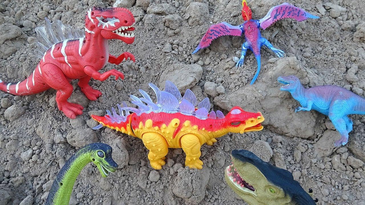 Dinosaurs Mountain Adventure! Learn Dinosaur Names For Kids! - YouTube
