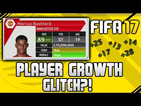 FIFA 17 PLAYER FAST GROWTH CHEAT (GLITCH?!) | FIFA 17 TIPS AND TRICKS!
