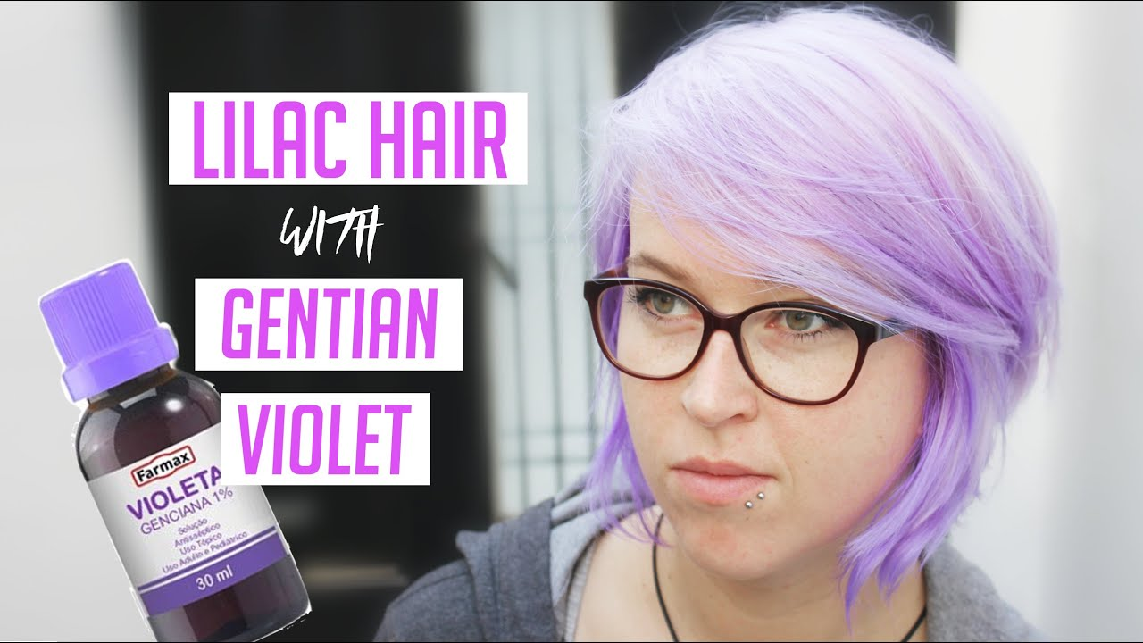 MAKE YOUR OWN LILAC HAIR DYE COLOUR AT HOME! SUPER EASY - YouTube