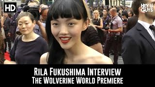 We hear from actor Rila Fukushima at the World Premiere of The Wolv...